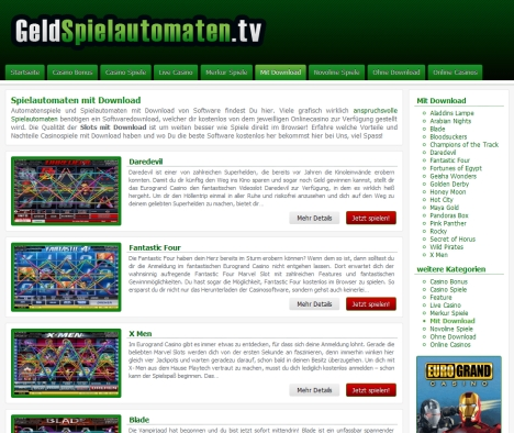 Spielautomaten mit Download