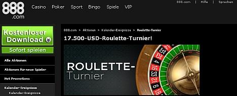 888 Roulette Turnier