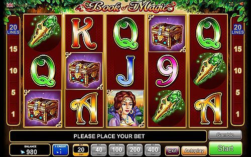 online casino novoline book of magic