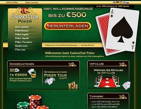 Pokern im Casino Club