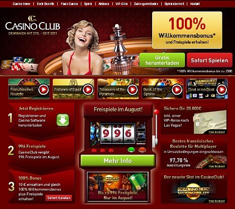 Casino Club kostenlose Aktion