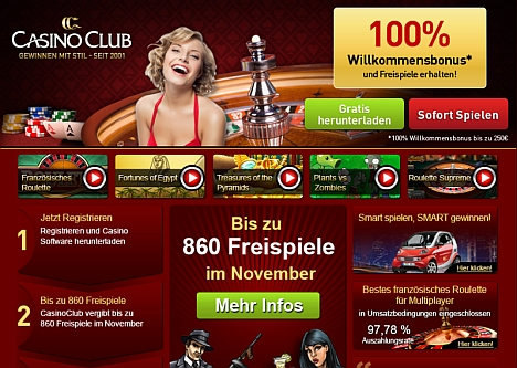Casino Club Freispiele im November