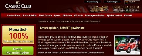 Casino Club Gewinnspiel im Oktober