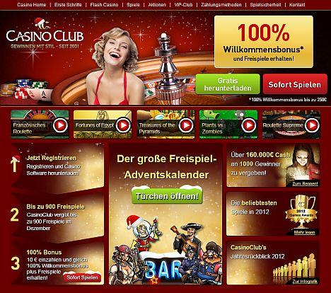 Weihnachten im Casino Club
