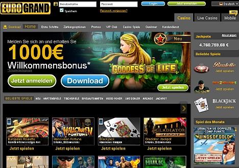 Eurogrand Casino spielen
