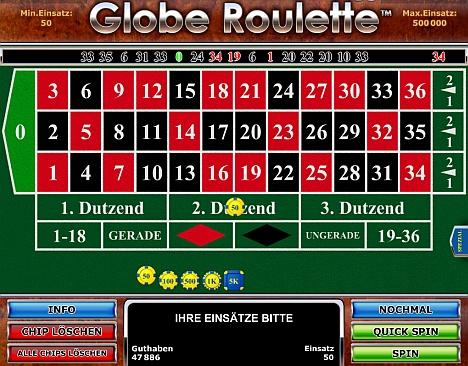 Globe Roulette jetzt online spielen