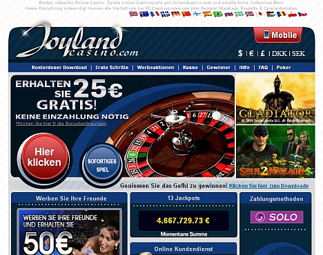 Joyland Casino - jetzt testen