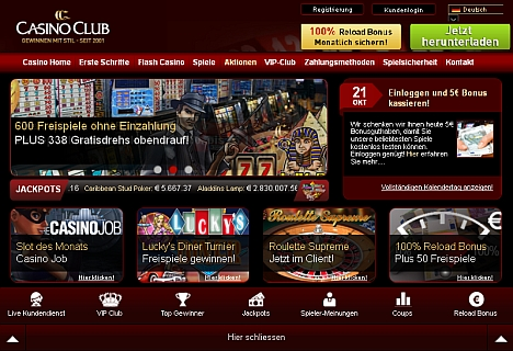 Casino Club Aktionskalender
