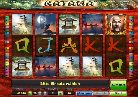 Katana - das Novoline Spiel im Stargames Casino