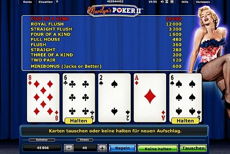 Marilyns Poker II bei Stargames online spielen