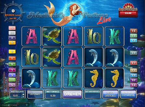 Mermaids Fortune Live Spielautomat