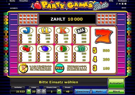Partygames Slotto Novoline Gewinne