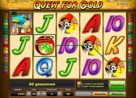 Novoline Quest for Gold online
