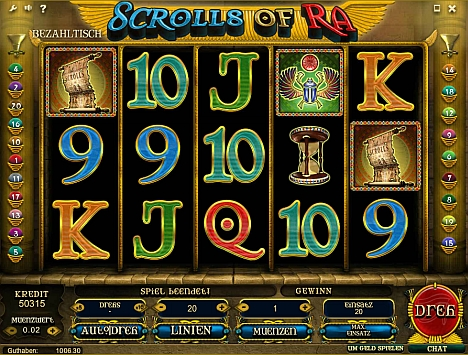 Scrolls of Ra Spiel