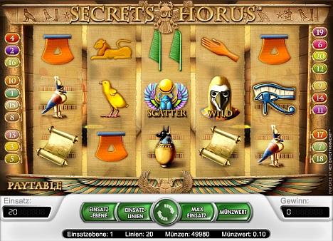 Secret of Horus gratis im Casino Euro