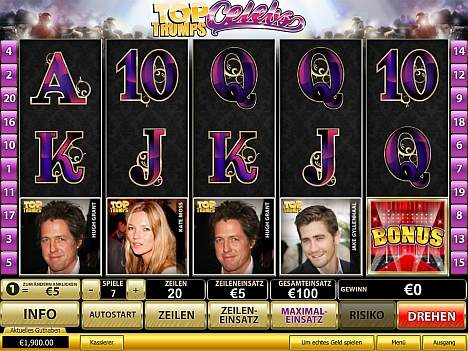Top Trump Celebs im Eurogrand Casino