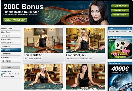 William Hill Live Casinospiele