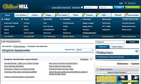 Baby Wetten bei William Hill